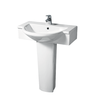 Washbasin with fixing screw+Pedestal LM3000+LM3010
