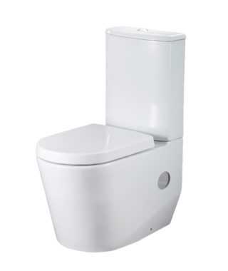 Washdown toilet with floor screw + cistern with dual flush RE1002+RE1003