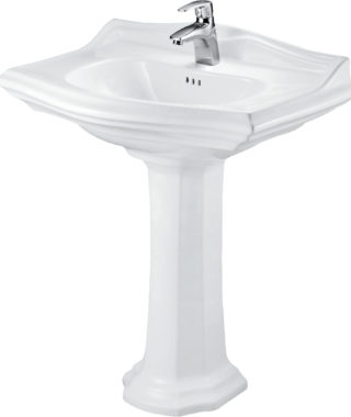 Washbasin with fixing screw+Pedestal DI3000+DI3010