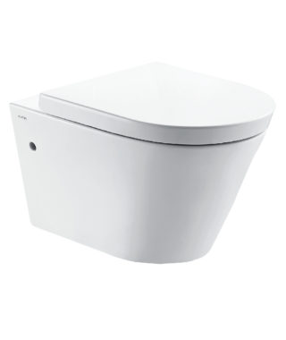 Wall-hung rimless toilet with fixing screw CR1100R