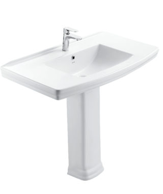 Washbasin with fixing screw+Pedestal OR3100+OR3110