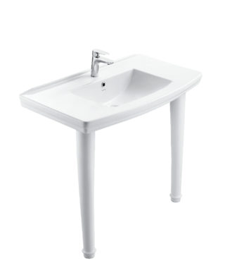 Washbasin with fixing screw+Double pedestalOR3200+OR3210