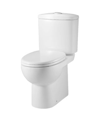 Washdown toilet with floor screw & Plastic soft seat cover+Cistern with dual flush LO1002+LO1003