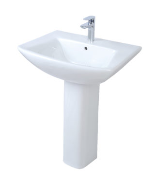 Washbasin with fixing screw+Pedestal TO3000N+TO3010N