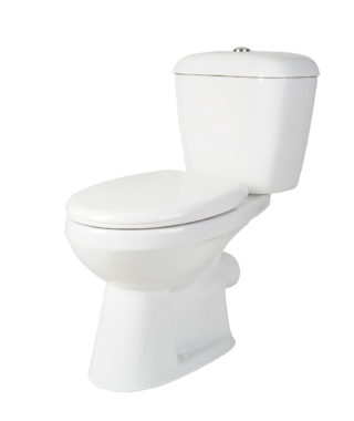 Washdown toilet with floor screw & plastic soft seat cover+Cistern with single flush PR1002SX+PR1003SX