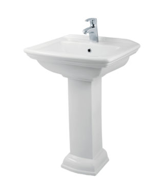 Washbasin with fixing screw+Pedestal OR3000+OR3010